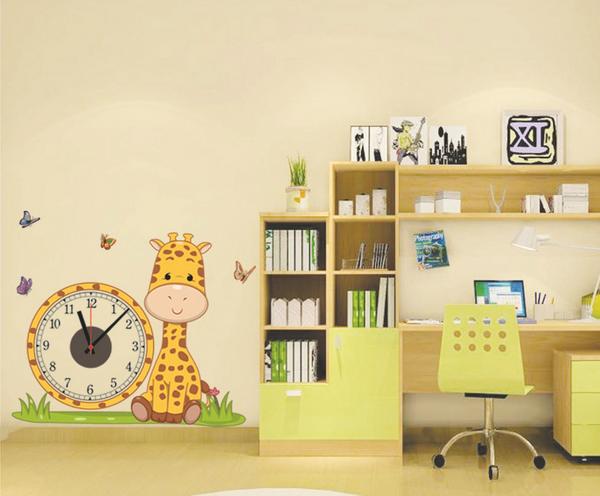 Cute Wall Decor For Living Room : Modern cute diy wall clock pvc sticker home living office