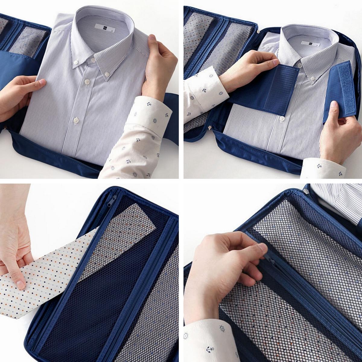 Travel Luggage Storage Organizer Bag Clothes Shirt Tie Suitcase Case Handbag