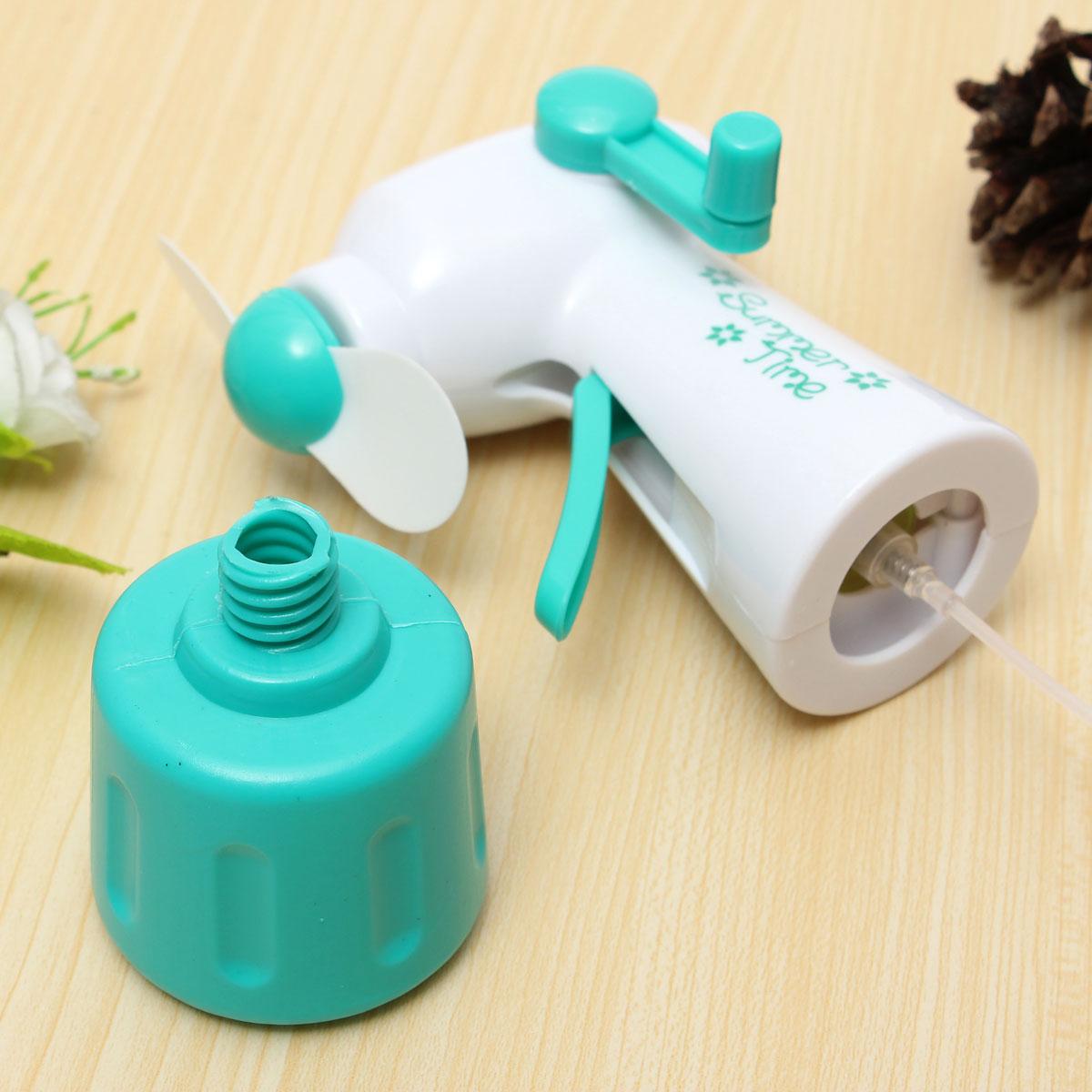 Fan Mister Bottle : Portable handheld cooling water spray mist fan