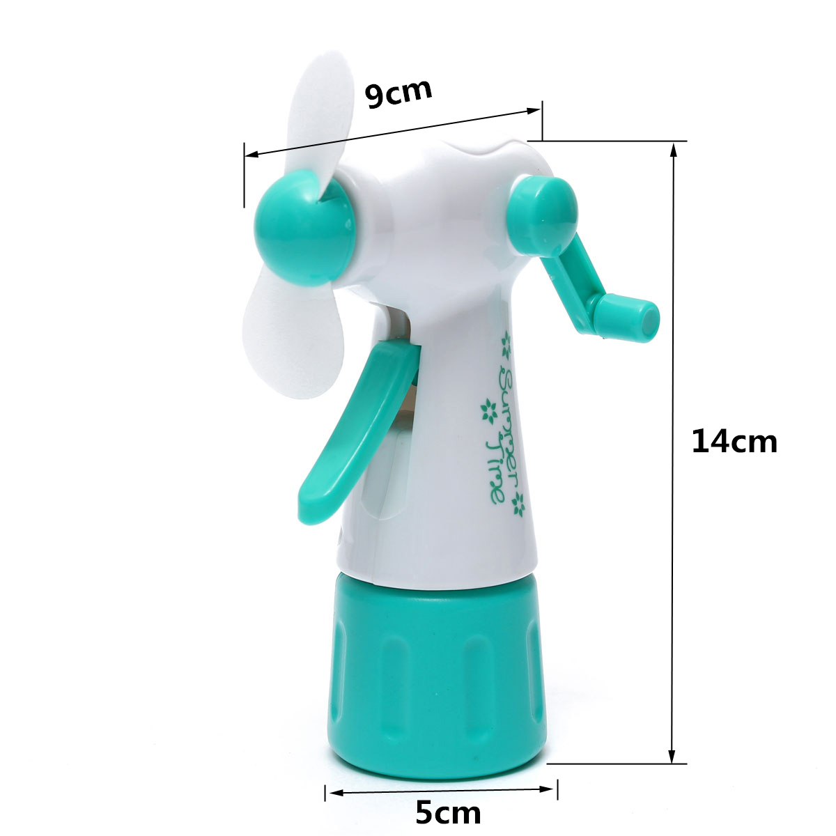 Mist Fan Bottle : Portable handheld cooling water spray mist fan