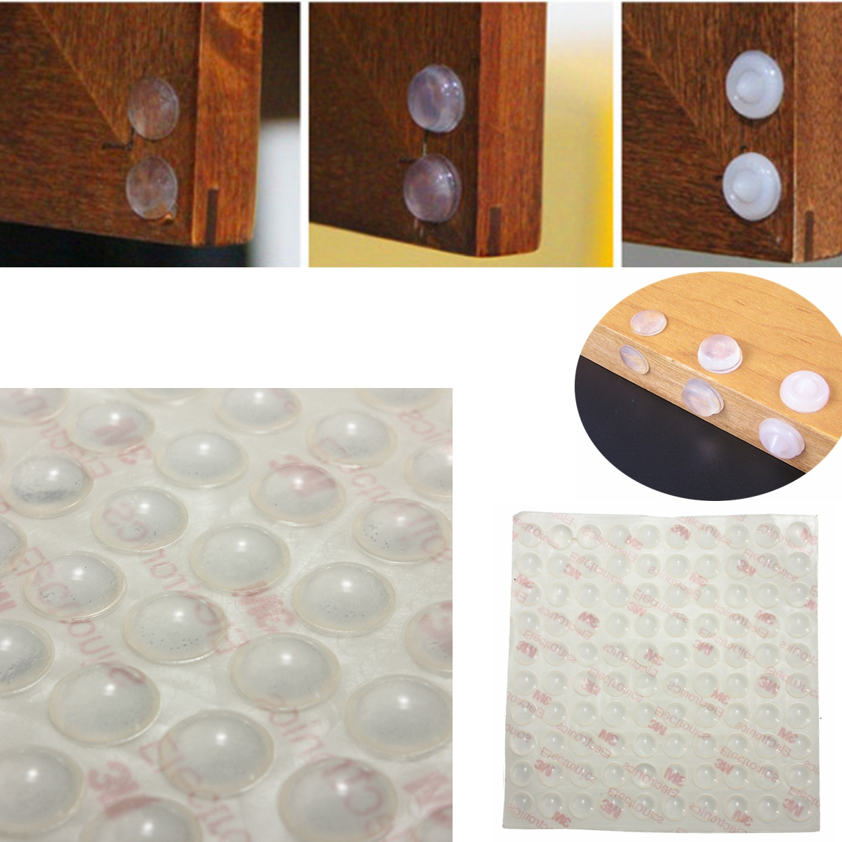 Ebay Kitchen Cabinets >> 100Pcs Self Adhesive Silicone Feet Bumpers Door Cupboard ...
