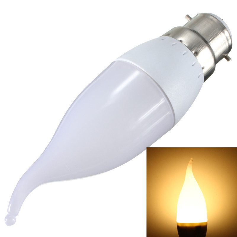 e14 e27 b22 b15 bougie ampoule candle light flamme 3w 10 led 2835 smd chandelier ebay. Black Bedroom Furniture Sets. Home Design Ideas
