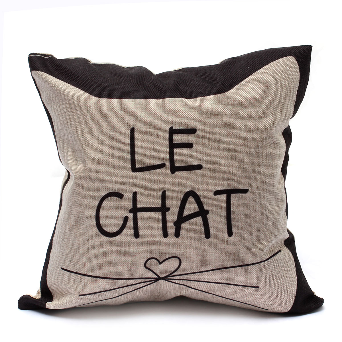 housse de coussin taie oreiller canap d co maison cushion lit mignon chat 43 43 ebay. Black Bedroom Furniture Sets. Home Design Ideas
