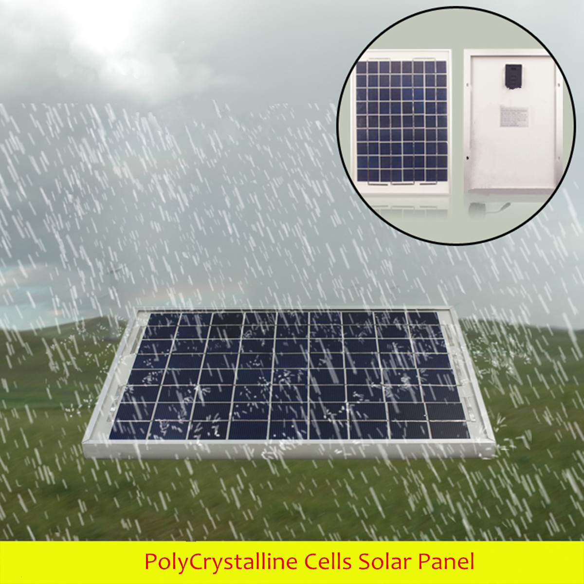 10w 12v Polycrystalline Cells Solar Panel Poly Battery