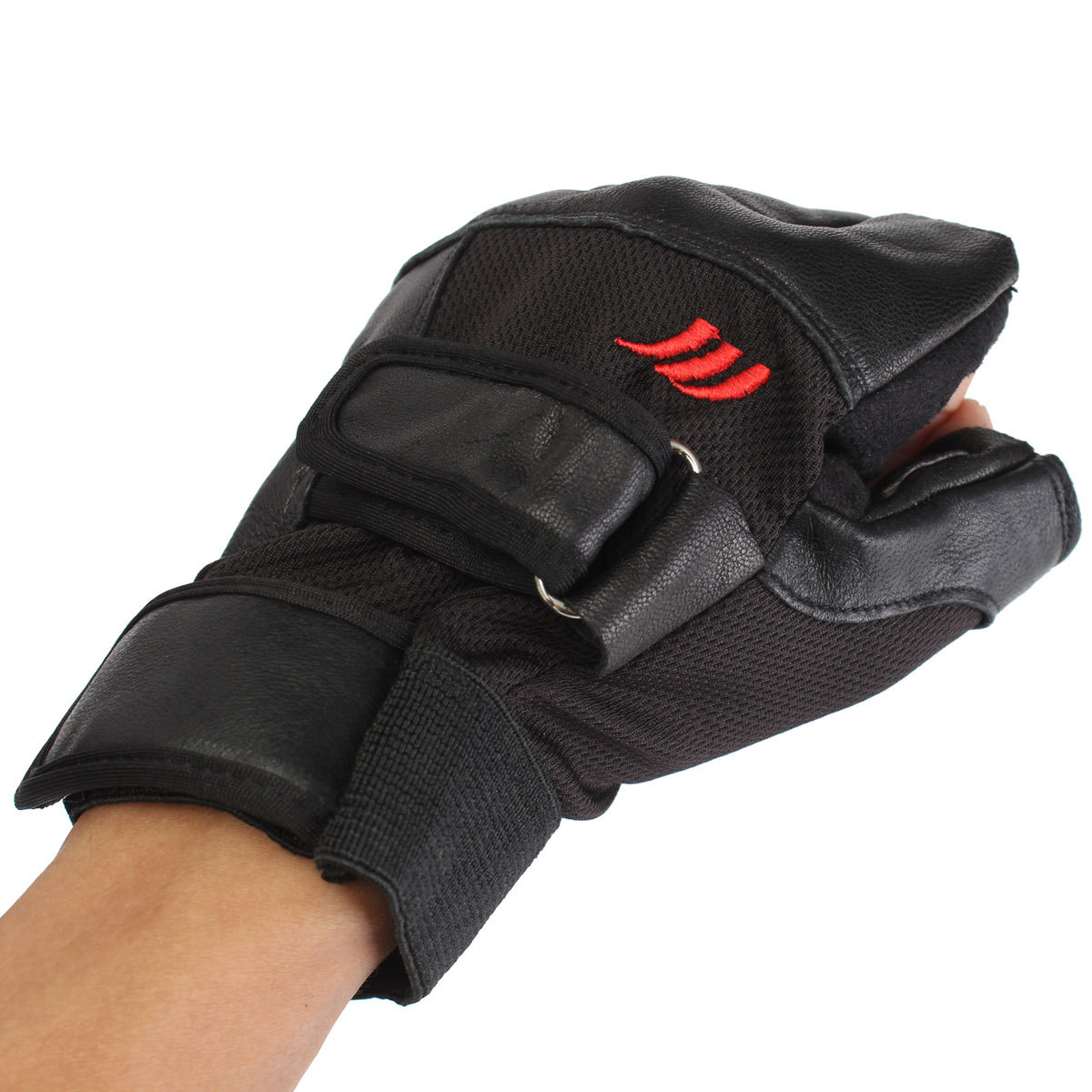 Fitness Gloves New Zealand: Tactical Men's Leather Weight Lifting Gloves Training Gym