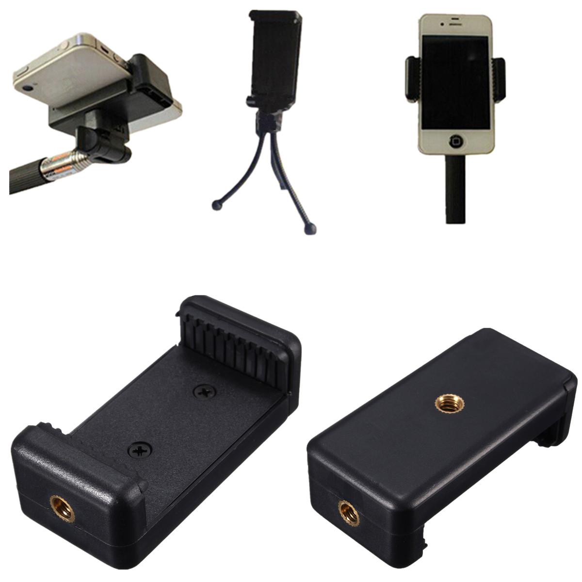 mobile cellphone clip bracket holder mount for tripod monopod stand selfie stick ebay. Black Bedroom Furniture Sets. Home Design Ideas