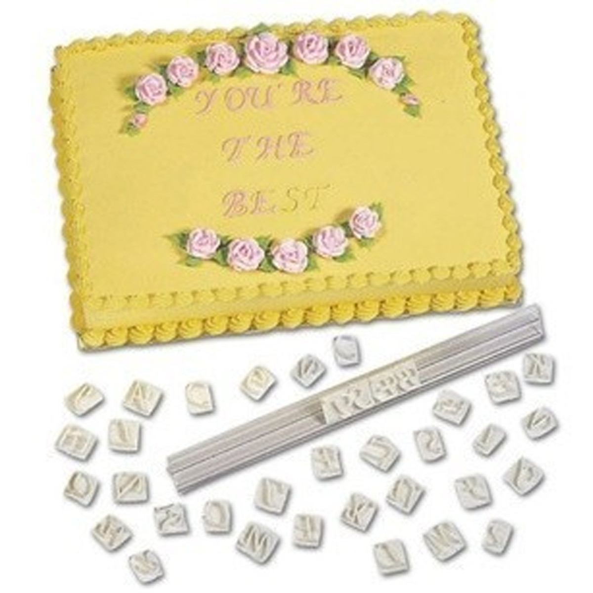 Cake Decorating Letter Cutters : Alphabet Letter Cake Cookie Biscuit Cutter Embosser Fondant Decorating Mold eBay