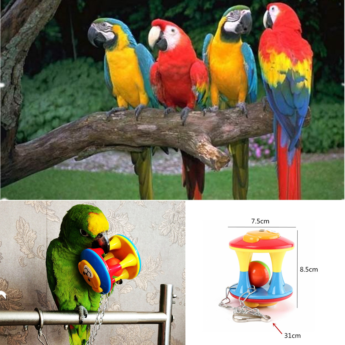 Pet Bird Toys : Bird toy parrot chew stand cage toys for parakeet