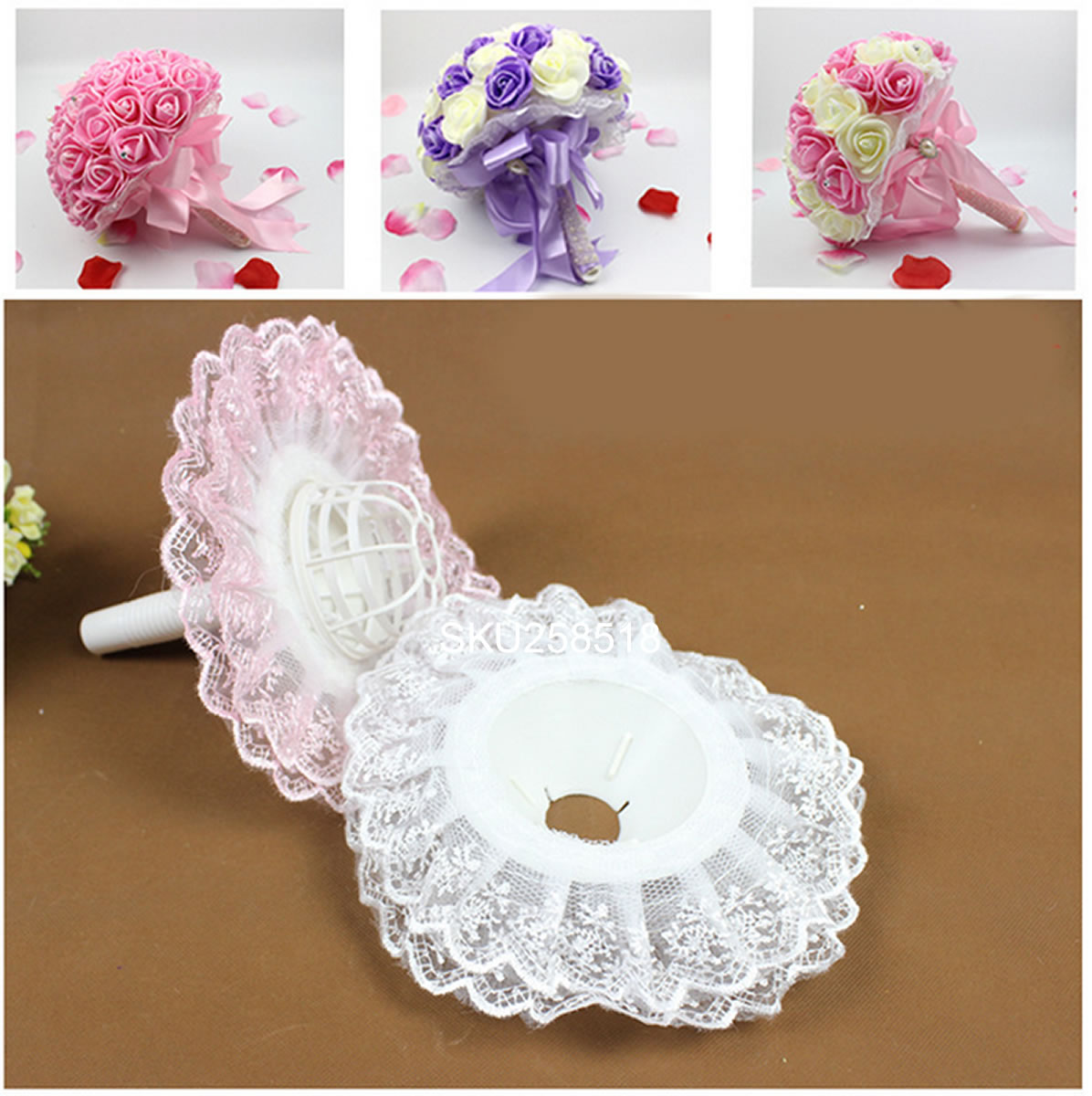DIY Bridal Wedding Bouquet Floral Flower Handle Holder ...