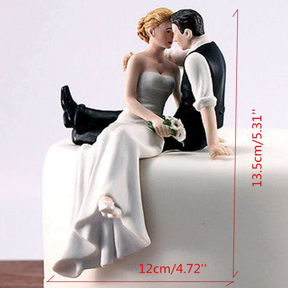 bride groom resin wedding cake topper couple figurine