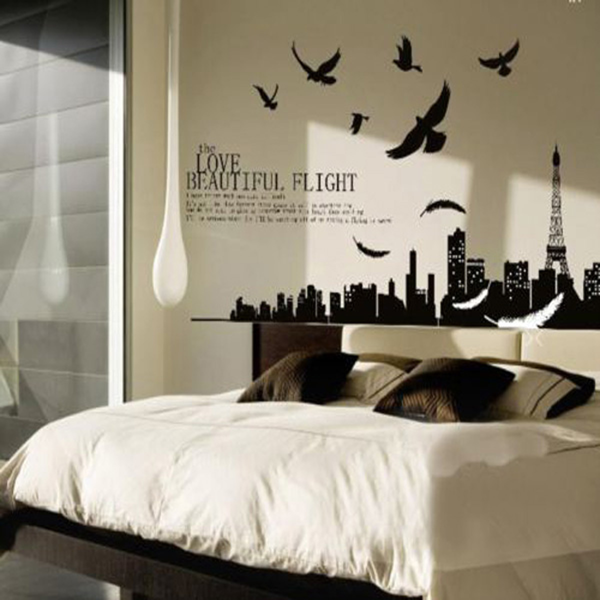 Quote word decal vinyl diy home room decor art wall stickers bedroom removabl - Lettre decorative murale ...