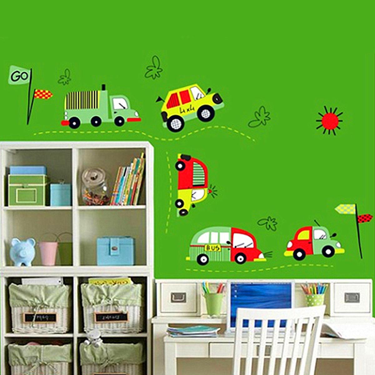 Wandsticker Wandtattoo Wandaufkleber Wohnzimmer Wald Tiere Kinder Spielzimmer