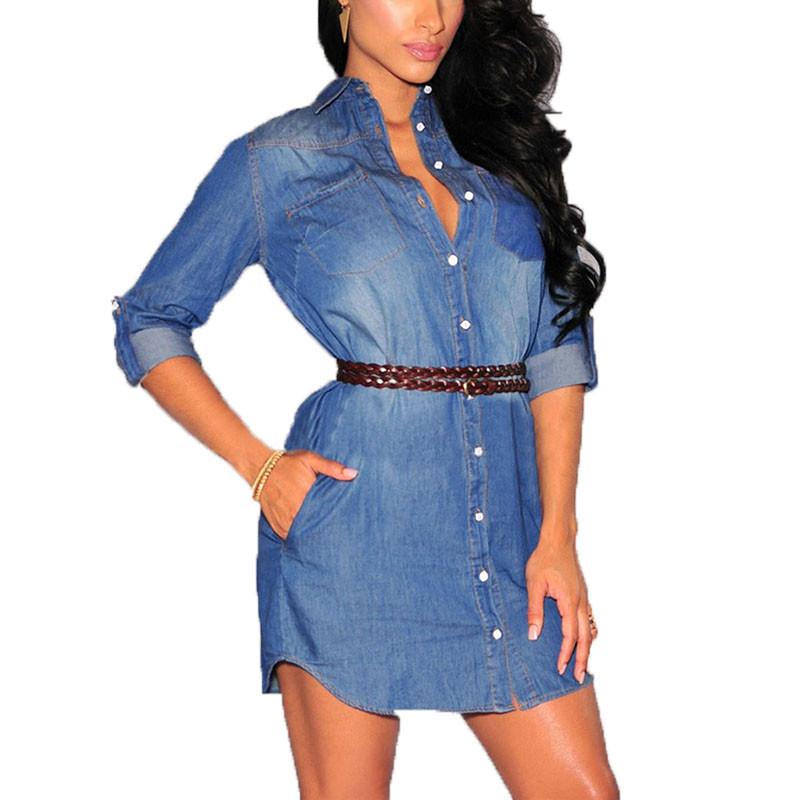 Vestito jeans donna