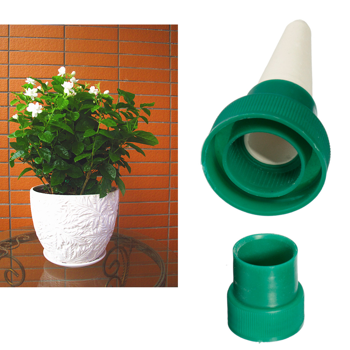 2pcs pflanz blumen automatisch bew sserung wasser spender kegel gie kanne urlaub ebay. Black Bedroom Furniture Sets. Home Design Ideas