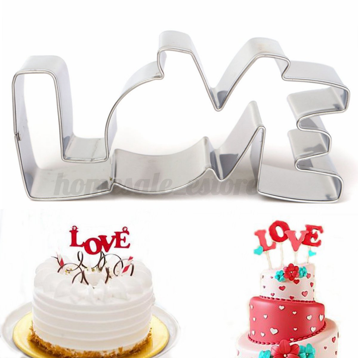 Stainless Steel Fondant Biscuit Cookie Pastry Mold Mould Cutter Cake Decorating