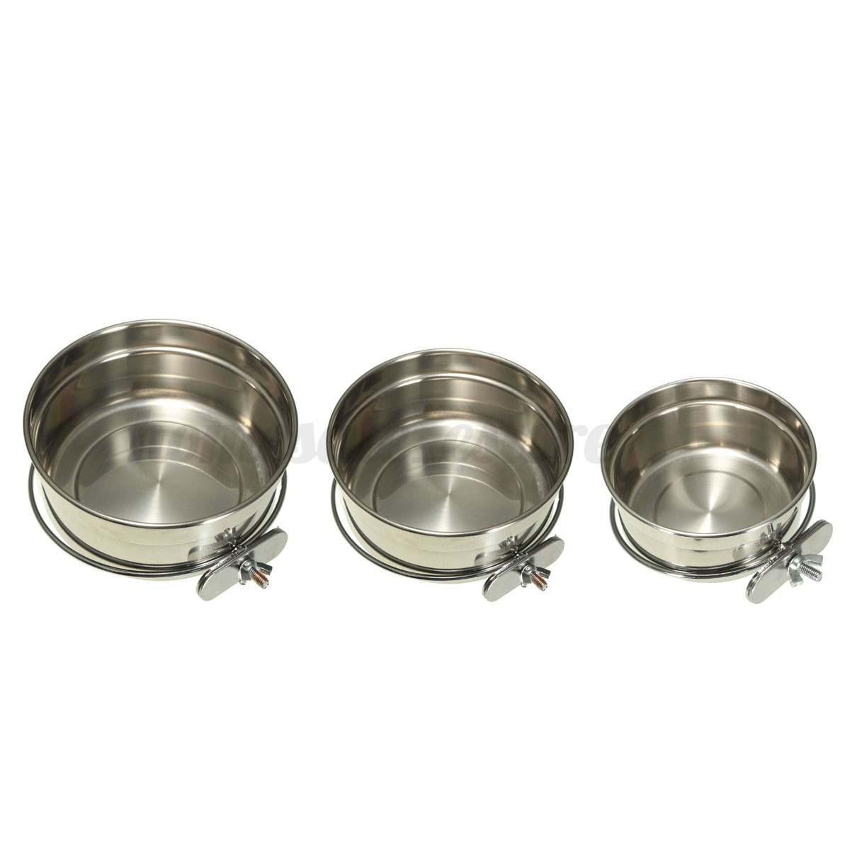 Stainless Steel Hanging Dog Cage Pet Rabbit Cat Food Water