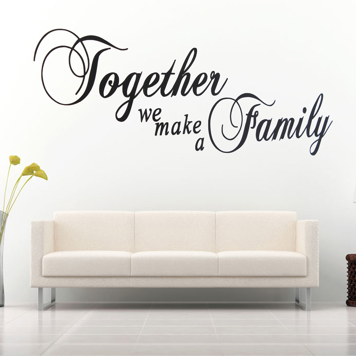 wandtattoo aufkleber wandsticker spruch schlafzimmer wohnzimmder k che wand deko. Black Bedroom Furniture Sets. Home Design Ideas