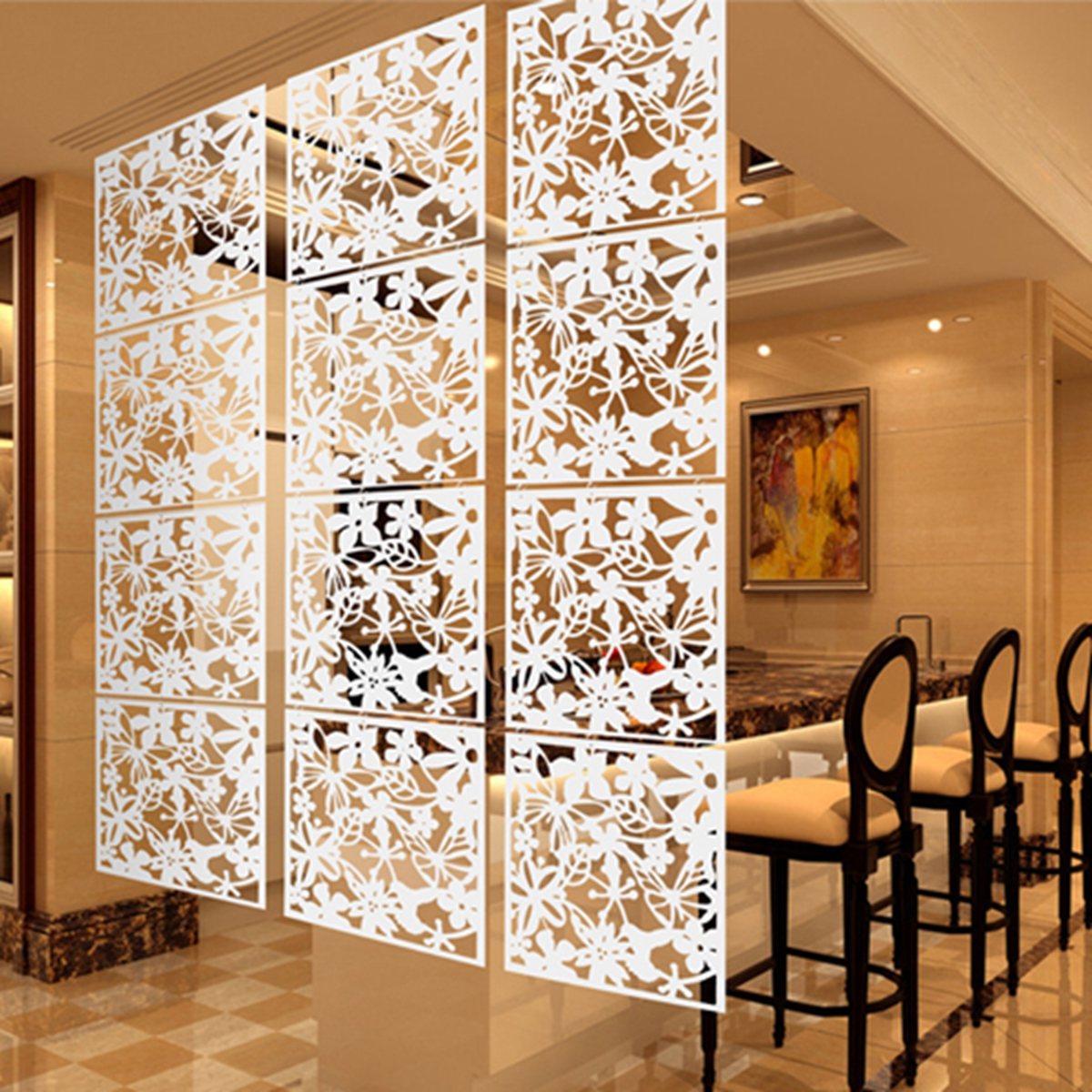 Room Partition Wall: 4pcs-Hanging-Screen-Partition-Room-Divider-Butterfly