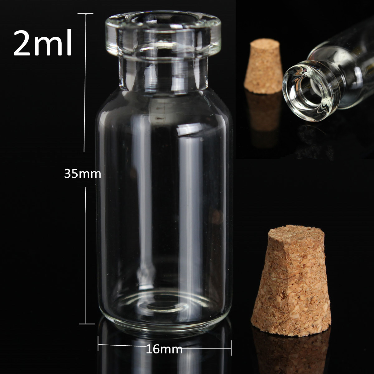 1 50 st ck glasflaschen 2 12ml leere glas apothekerflasche lik r flasche korken ebay. Black Bedroom Furniture Sets. Home Design Ideas