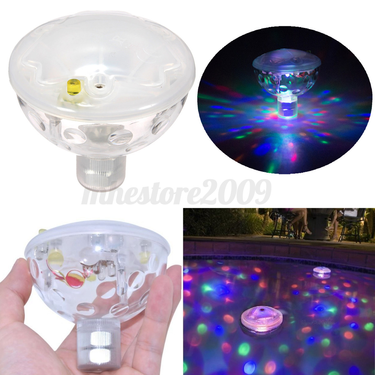 Floating Underwater Led Disco Aquaglow Light Show Swimming