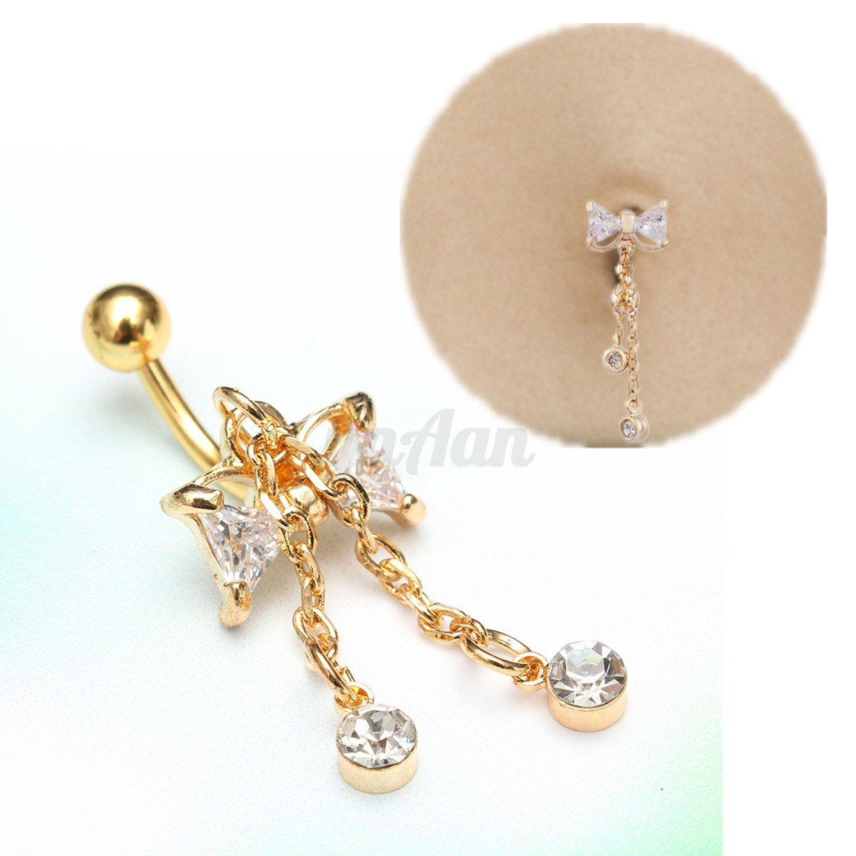 bijoux de corps ventre piercing nombril nez anneau bague nose navel ring cadeau ebay. Black Bedroom Furniture Sets. Home Design Ideas