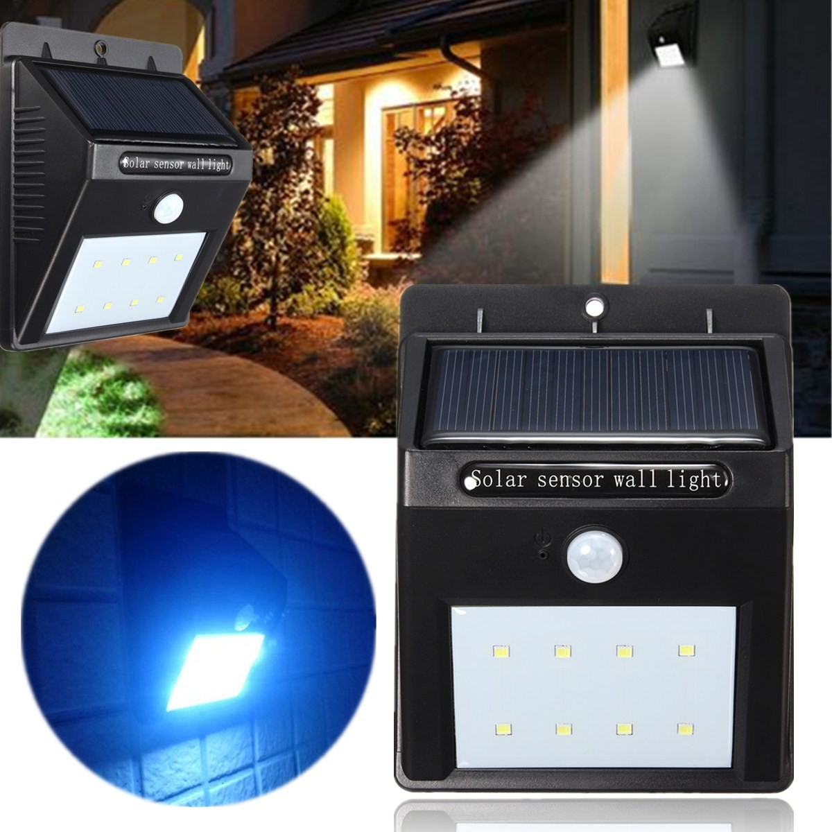Motion Activated Outdoor Solar Light Wireless Garden