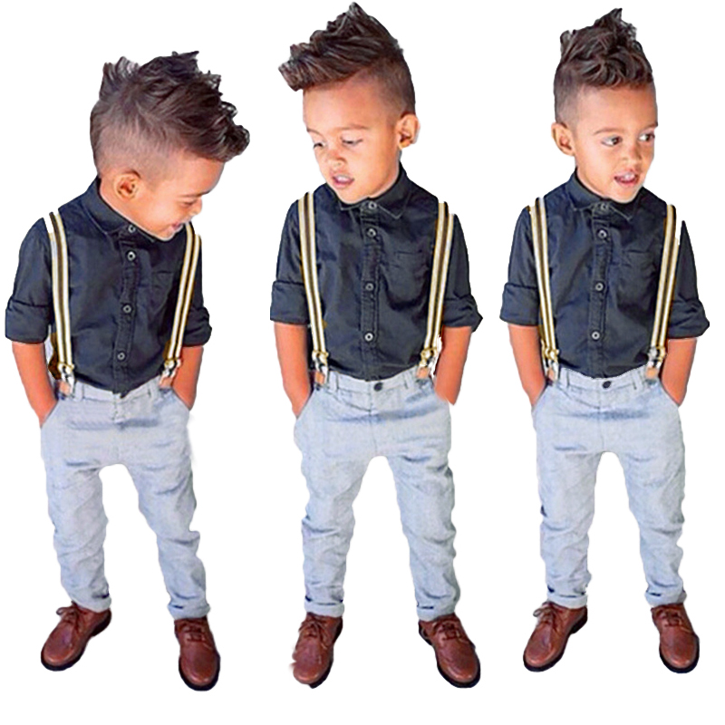 baby jungen 3tlg set anzug hemd shirt hose hosentr ger gr e 80 90 100 110 120 ebay. Black Bedroom Furniture Sets. Home Design Ideas