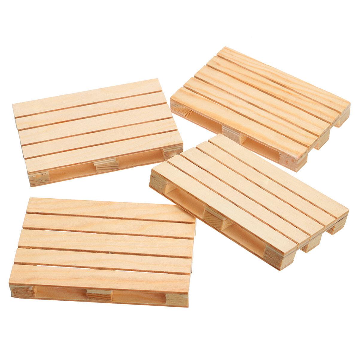 Set of 4 Beverage Wood Pallets Mini Wooden Pallet Coasters ...