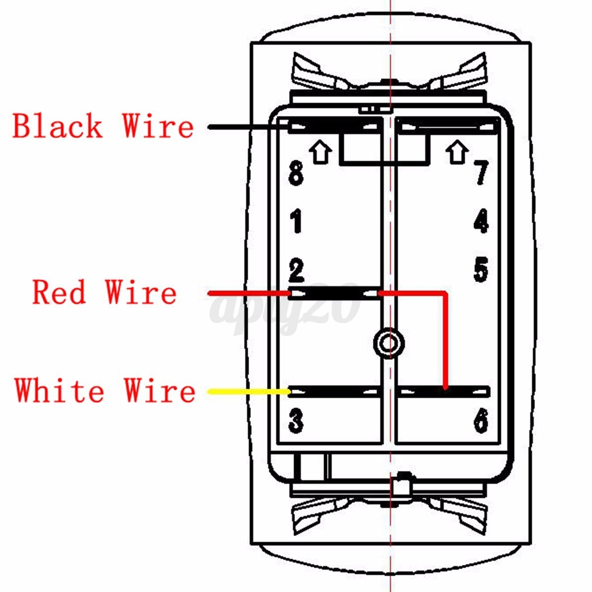 blue led light bar rocker switch wiring harness 40a relay fuse 12v suv atv jeep ebay