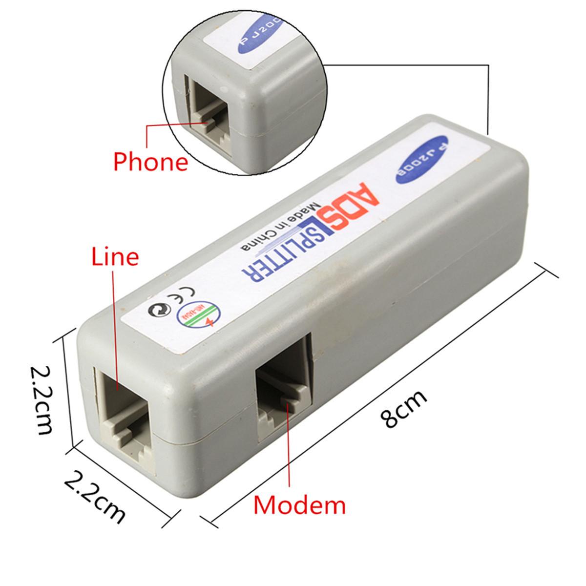 rj11 adsl fax modem broadband phone network cable line filter splitter ebay