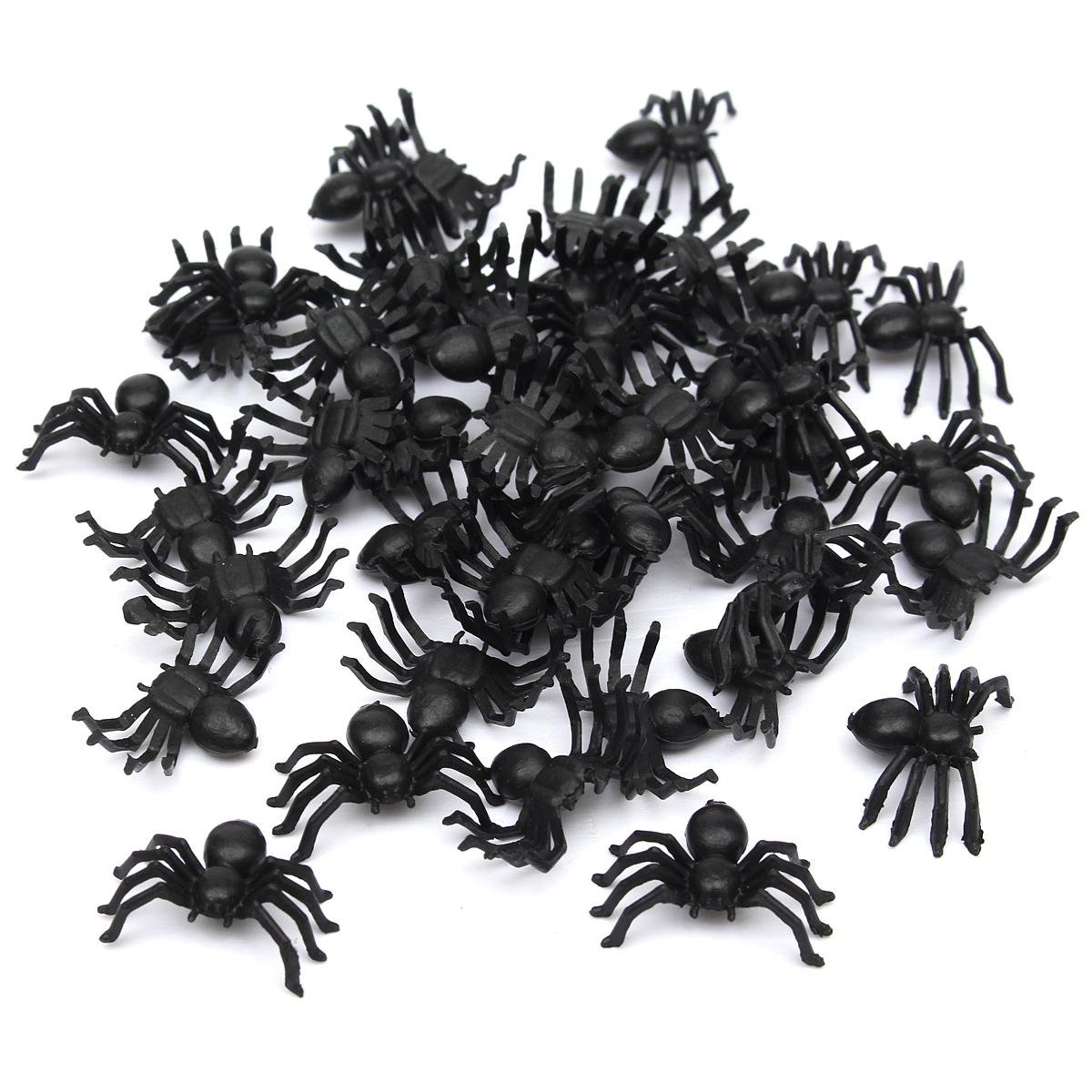 Halloween Party Plastic Cockroaches Spiders Rubber Toys Joke Prop ...