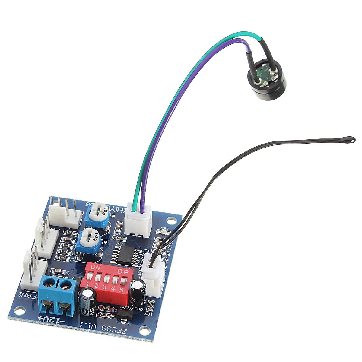 Temperature Control Speed Controller CPU High Temp Alarm PWM PC CPU #A02B32