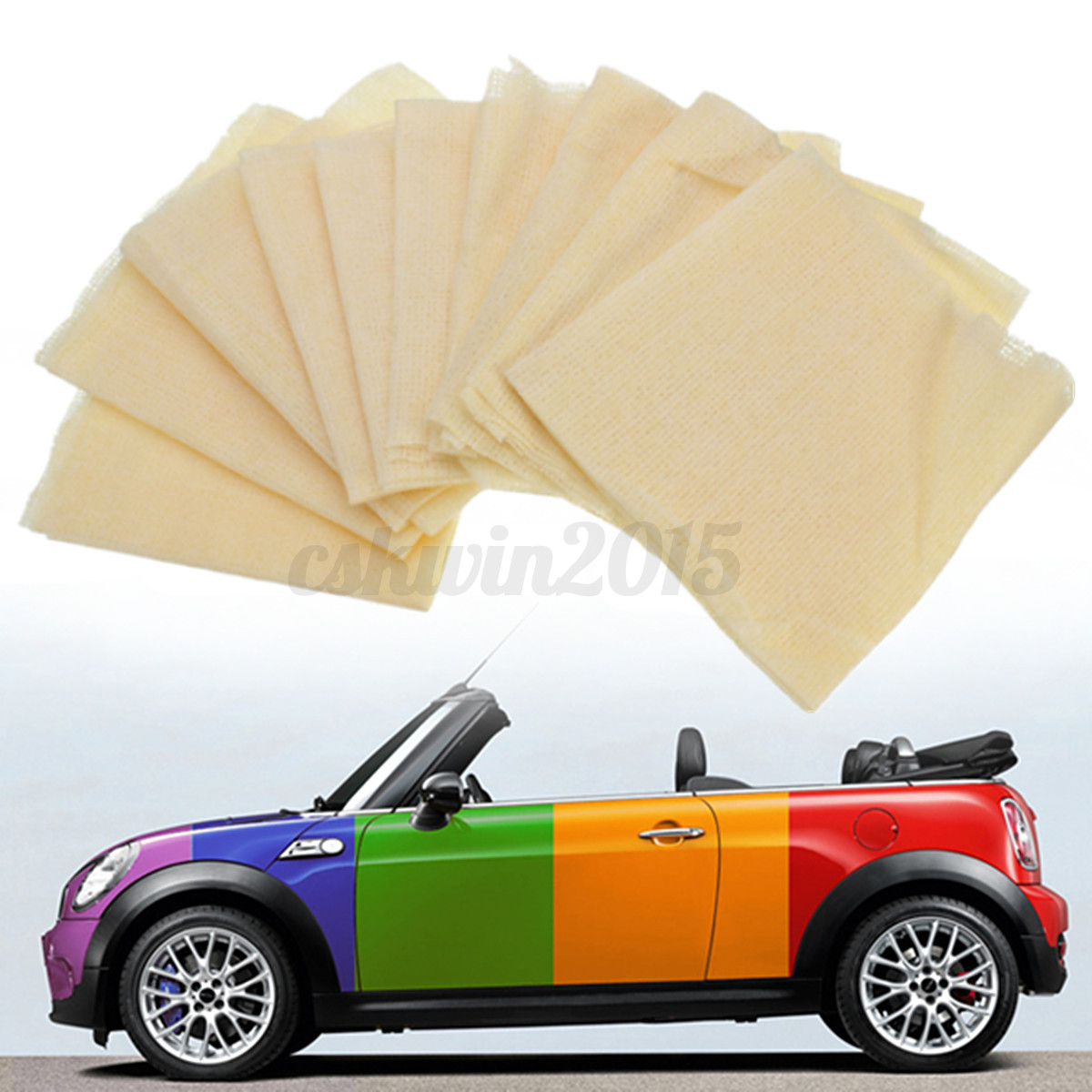 10pcs Non Woven Auto Car Lint Dust Cloth Tool 35x22cm Sticky Paint Body Ebay