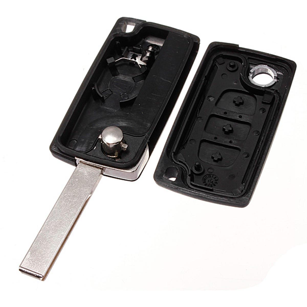 3 button flip cover remote key case fob for citroen c2 c3 c4 c5 c6 xsara picasso ebay. Black Bedroom Furniture Sets. Home Design Ideas