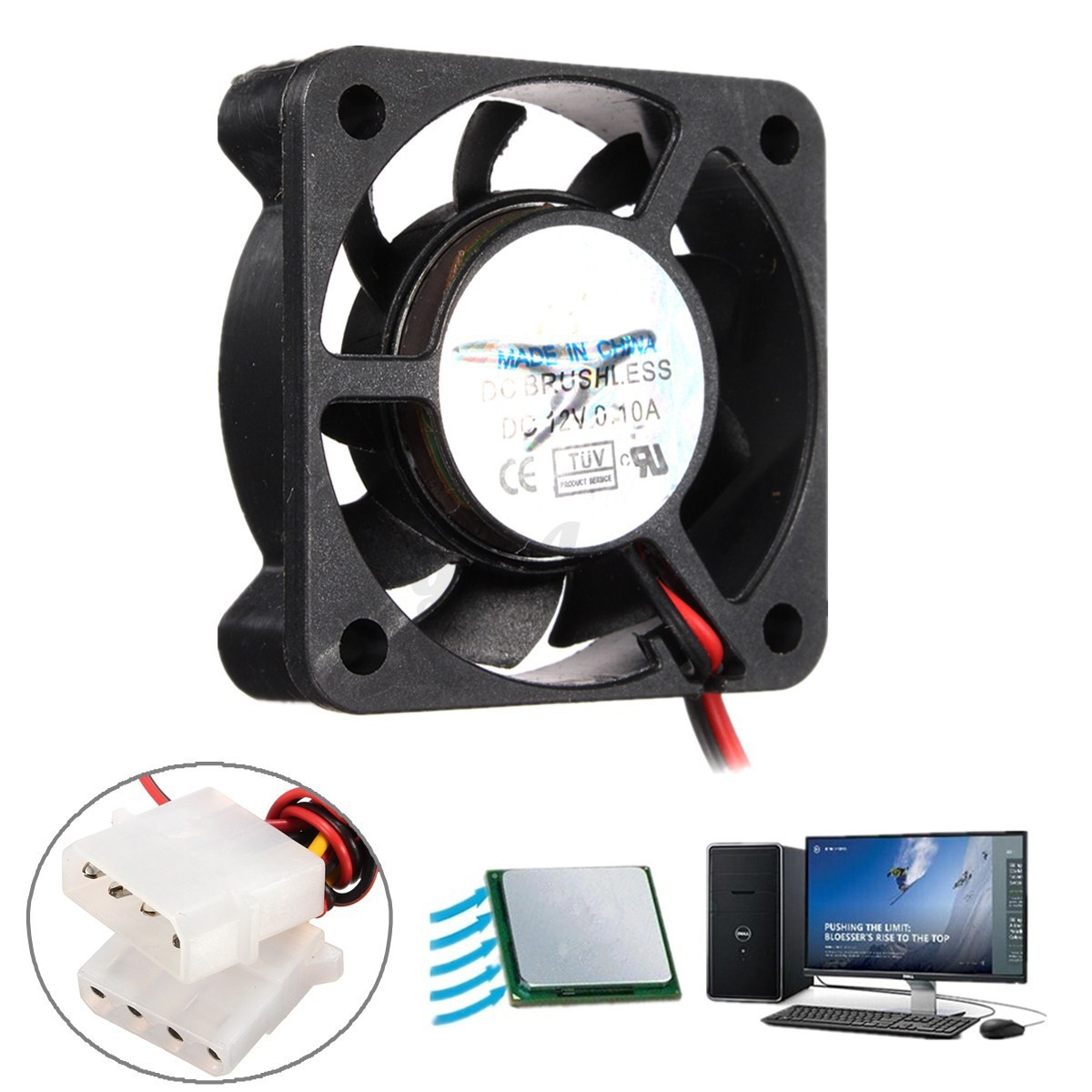 12v 4pin cpu ventilateur refoidisseur radiateur fan pr ordinateur pc 40x40x10mm ebay. Black Bedroom Furniture Sets. Home Design Ideas
