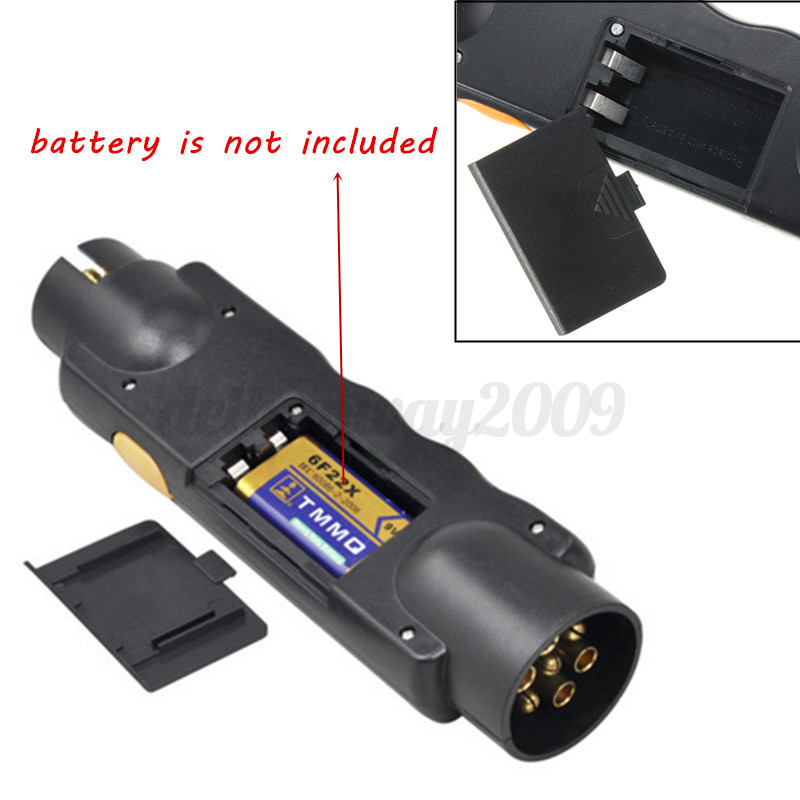 Plug In Circuit Tester : V pin car trailer towing lights plug socket cable