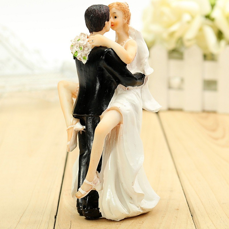 Make Your Own Wedding Topper: Bride Groom Resin Wedding Cake Topper Couple Figurine