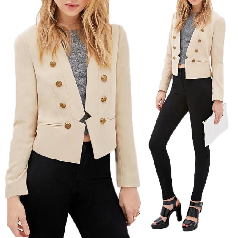 neu damen blazer business anzug jacke freizeit mantel jacken cardigan s m l xl ebay. Black Bedroom Furniture Sets. Home Design Ideas