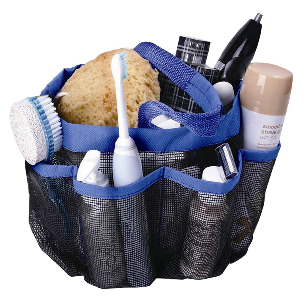 8 Pockets Shower Caddy Mesh Portable Quick Dry Travel Tote Carry ...
