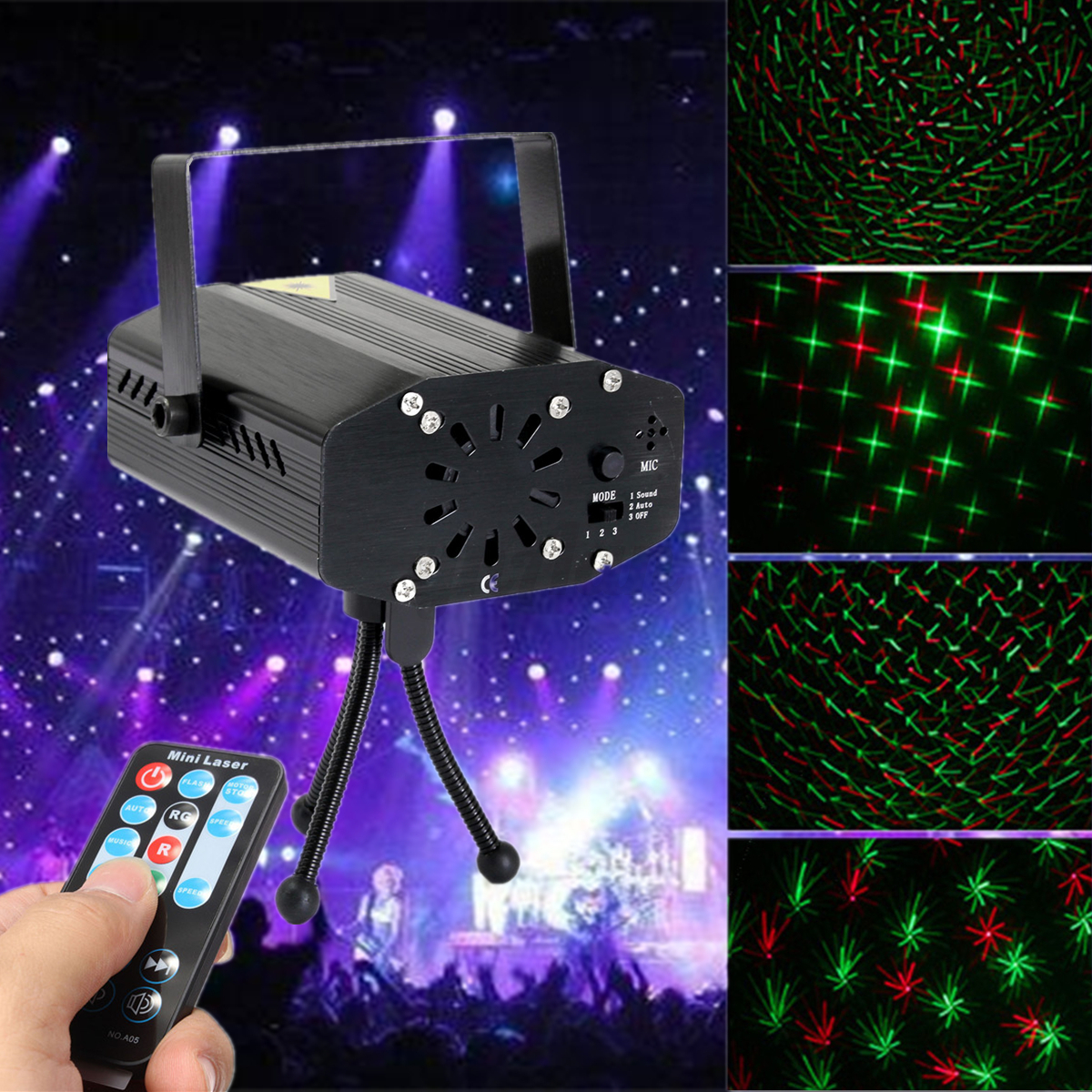 17 type mini led lampe laser stage projecteur lumiere for Eclairage noel exterieur projecteur