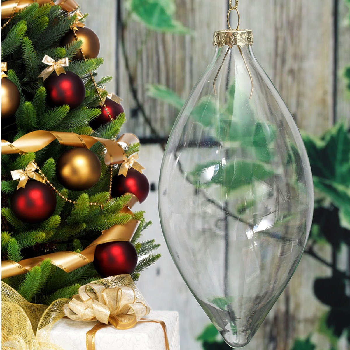 Clear-Glass-Ball-Bauble-Christmas-Tree-Garden-Decoration ...
