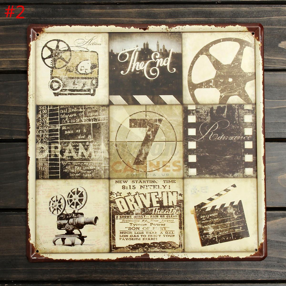 30x30cm vintage plaque metal affiche mural publicitaire bar caf pub maison deco - Plaque publicitaire vintage ...