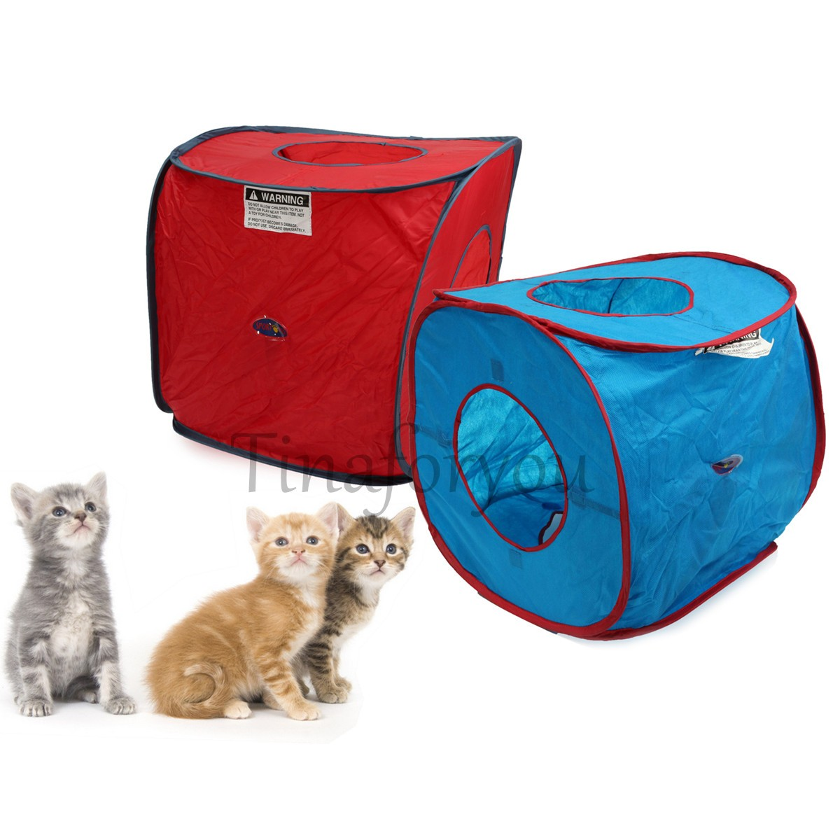 Cat kitten pop up tent playground toys foldable rabbit dog for Cat tent