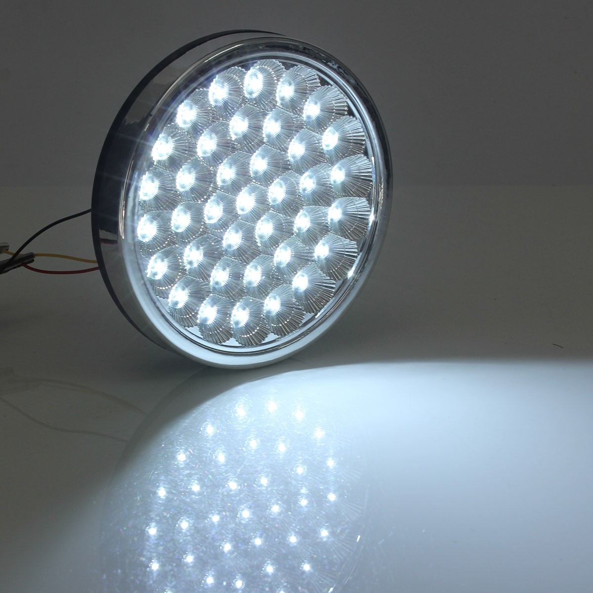 12v 37 Led White Car Interior Round Dome Roof Ceiling Door Light Lamp Taxi Truck Ebay