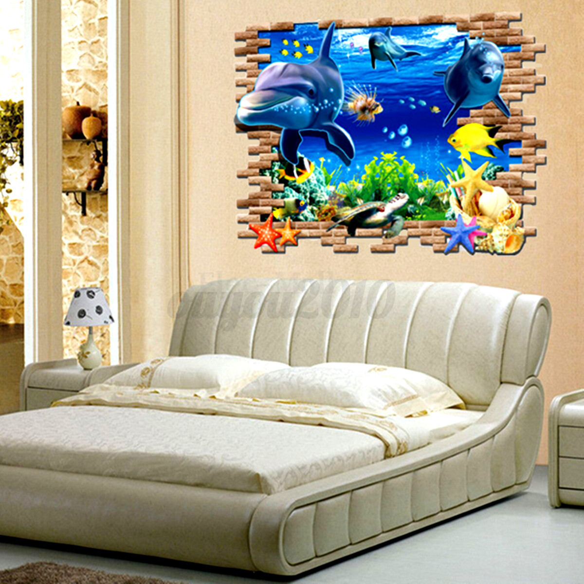 3d fenster wandtattoo sticker aufkleber stern spiegel meer decke wohnzimmer deko ebay. Black Bedroom Furniture Sets. Home Design Ideas