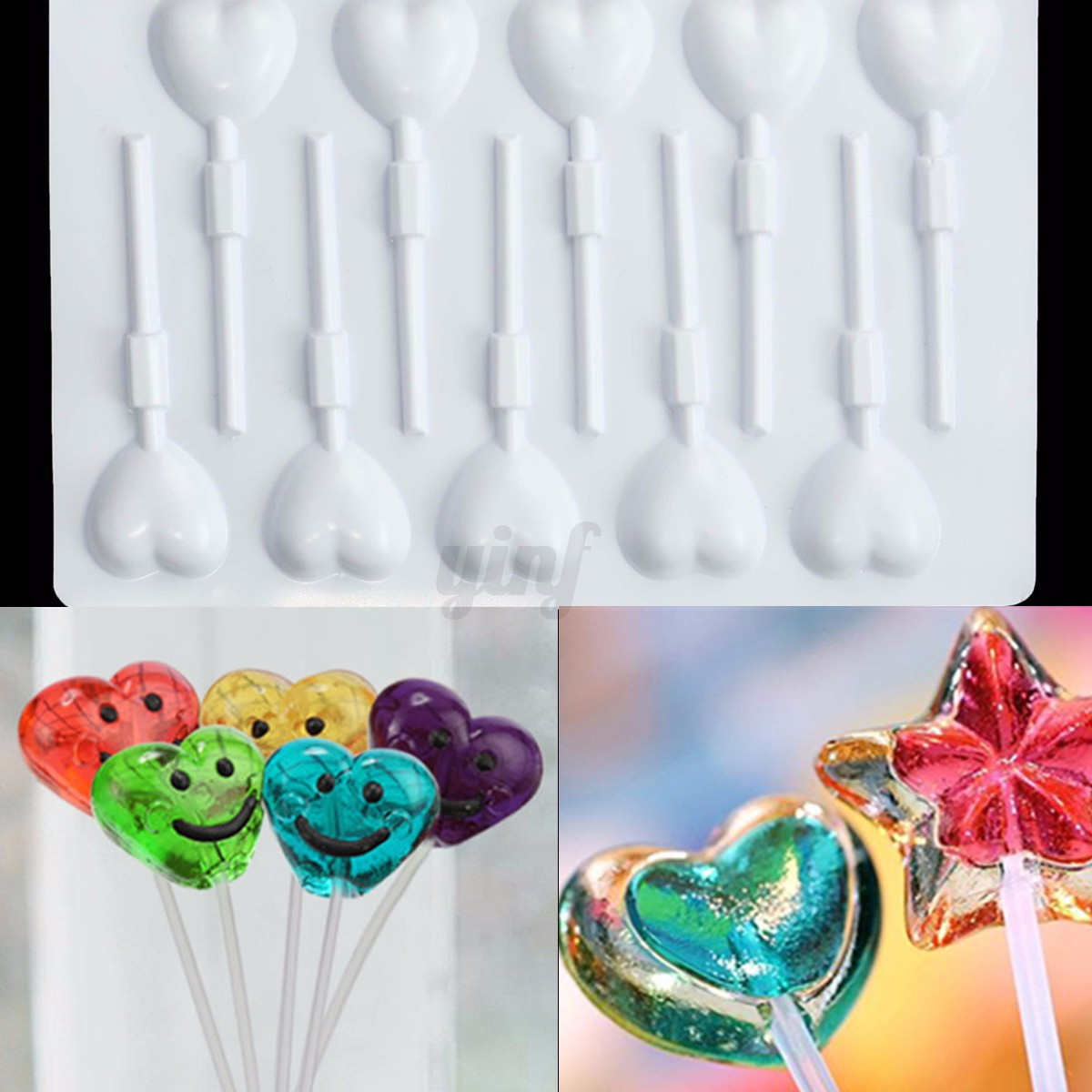 Lollipop Fondant Mould Chocolate Cake Cookie Candy Soap Mold Xmas Decorating DIY