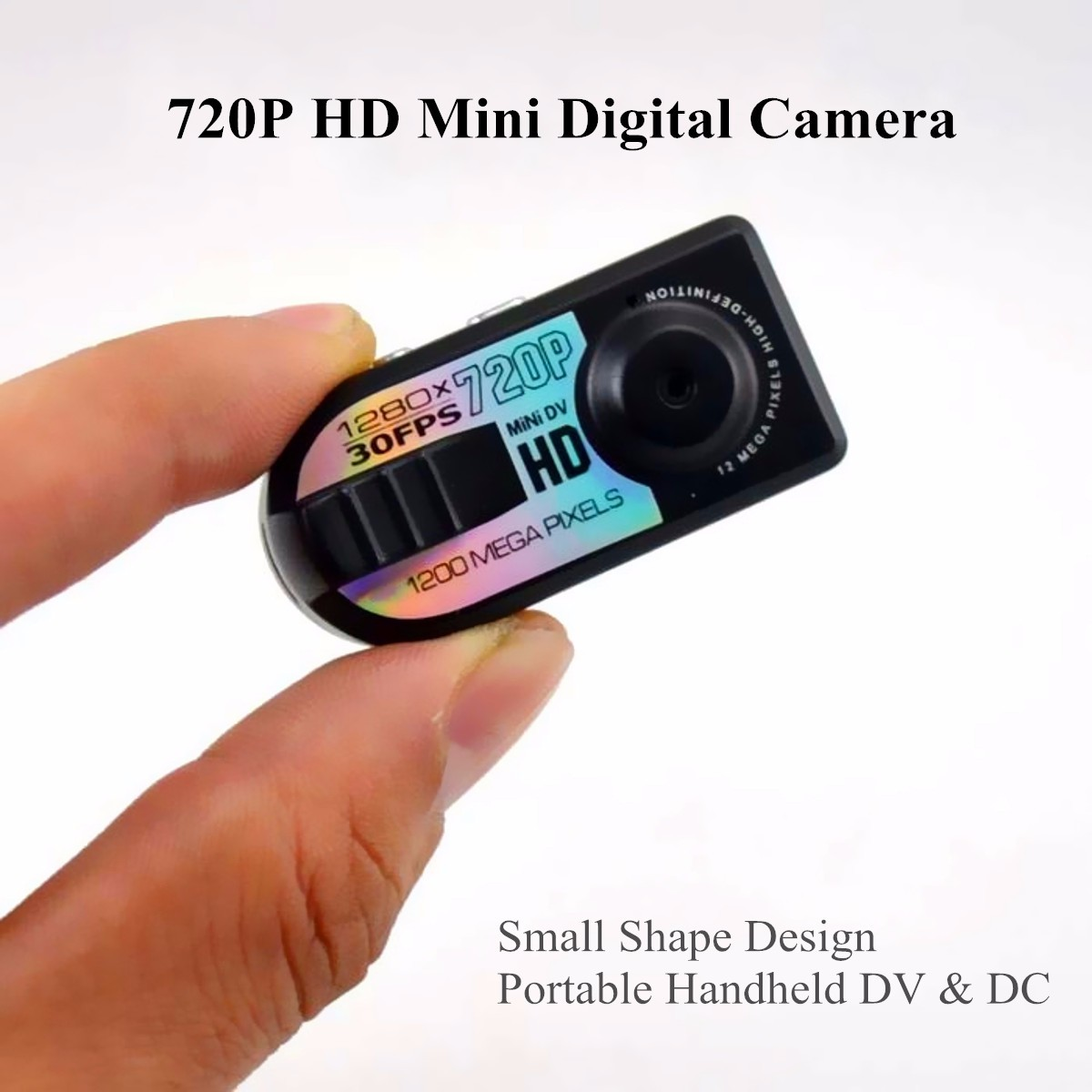 portable 720p hd mini digital camera recorder camcorder dv dvr motion detection. Black Bedroom Furniture Sets. Home Design Ideas
