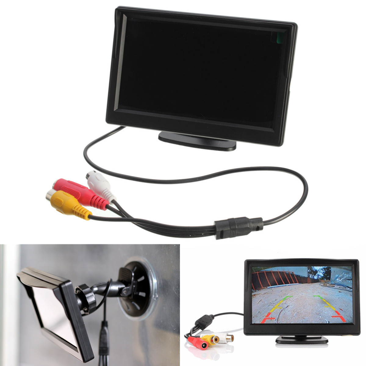 5 inch tft lcd car rear view rearview monitor with stand. Black Bedroom Furniture Sets. Home Design Ideas