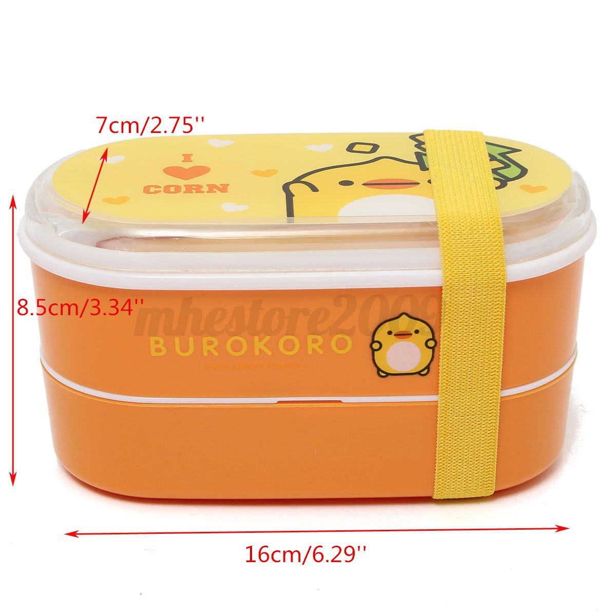 student cartoon lunch box food container storage portable bento box chopsticks. Black Bedroom Furniture Sets. Home Design Ideas