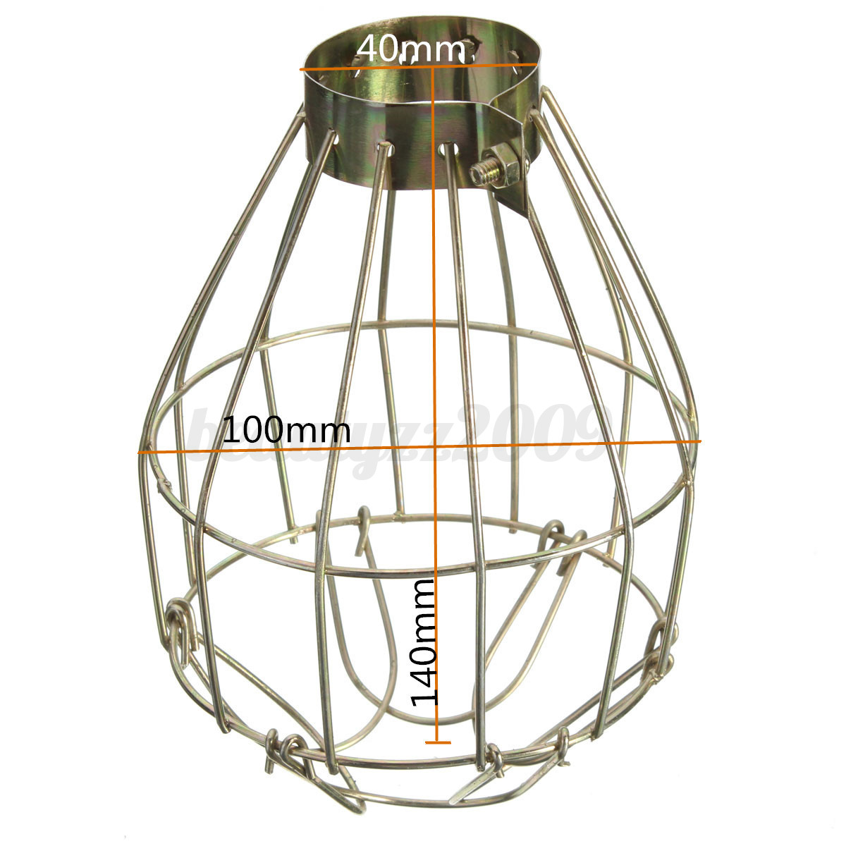 vintage trouble light industrial metal wire bulb guard clamp on lamp cage cov. Black Bedroom Furniture Sets. Home Design Ideas